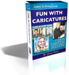 Ebook cover: Fun With Caricatures