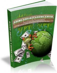 Ebook cover: Going Green & Saving Green