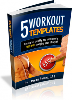 Ebook cover: 5 Customized Workout Templates