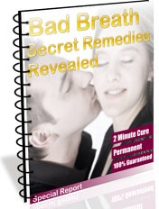 Ebook cover: Bad Breath Secret Remedies Revealed