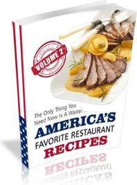 Ebook cover: America's Favorite Restaurant Recipes v2