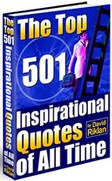 Ebook cover: The Top 501 Inspirational Quotes of All Time