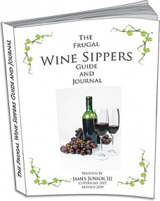 Ebook cover: The Frugal Wine Sippers Guide and Journal