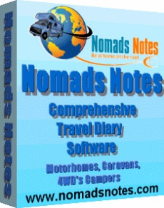 Ebook cover: Nomads Notes Comprehensive Travel Diary Software