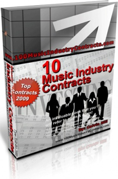 Ebook cover: Over 10 Printable Music Industry Contracts