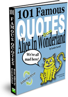 Ebook cover: 101 Famous Quotes from Alice In Wonderland
