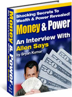 Ebook cover: Money & Power - An Interview With Allen Says