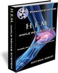 Ebook cover: HEM - Rehab your Ankle Sprain in Days