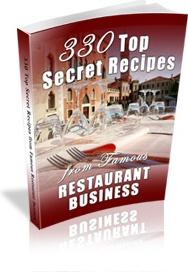 Ebook cover: 330 Top Secret Recipes