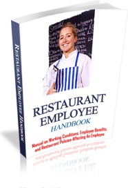 Ebook cover: Restaurant Employee Handbook - Sample From A Real Famous Restaurant