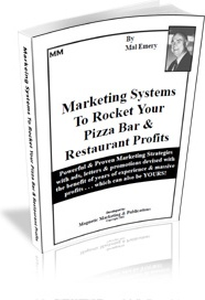 Ebook cover: Marketing Systems To Rocket Your Pizza Bar & Restaurant Profits
