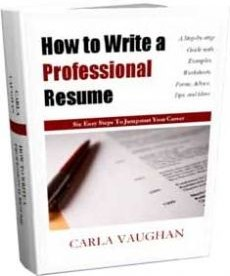 Ebook cover: How to Write a Professional Resume