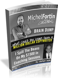 Ebook cover: Michel Fortin Brain Dump