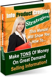 Ebook cover: Info Product Creation Strategies