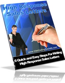 Ebook cover: High Response Sales Letters