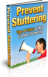 Ebook cover: Prevent Stuttering