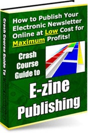 Ebook cover: Crash Course Guide To E-Zine Publishing