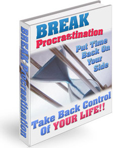 Ebook cover: Break Procrastination