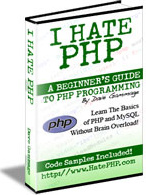Ebook cover: I Hate PHP