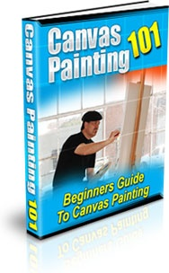 Ebook cover: Canvas Painting 101