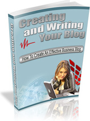 Ebook cover: Creating and Writing Your Blog
