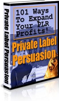 Ebook cover: Private Label Persuasion