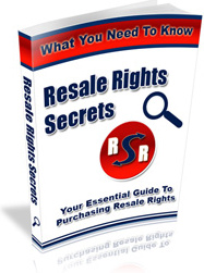 Ebook cover: Resale Rights Secrets