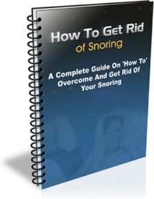 Ebook cover: How to Get Rid of Snoring