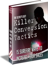 Ebook cover: Killer Conversion Tactics