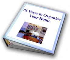 Ebook cover: 51 Ways To Organize Your Home