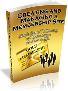 Ebook cover: Creating And Managing A Membership Site