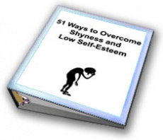 Ebook cover: 51 Ways to Overcome Shyness and Low Self-Esteem