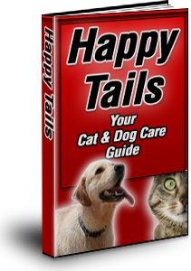 Ebook cover: Happy Tails: Your Cat & Dog Care Guide