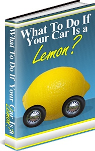 Ebook cover: What To Do If Your Car Is a Lemon?