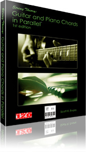 Ebook cover: String Theory: Guitar and Piano Chords in Parallel