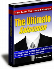 Ebook cover: The Ultimate Salesman