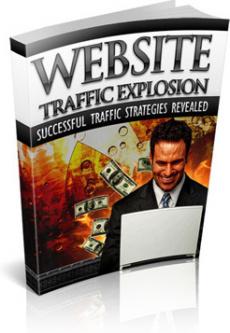 Ebook cover: Website Traffic Explosion