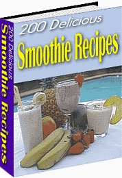 Ebook cover: 200 Delicious Smoothie Recipes