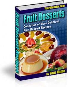 Ebook cover: Fruit Desserts