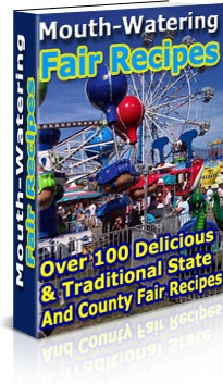 Ebook cover: Mouth-Watering Fair Recipes