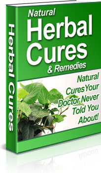 Ebook cover: Natural Herbal Cures and Remedies