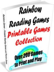 Ebook cover: Rainbow Reader - Printable Reading Games