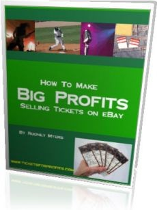 Ebook cover: How to Make Big Profits Selling Tickets on eBay