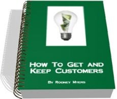 Ebook cover: How To Get, and Keep, Customers