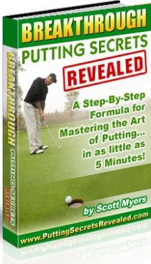 Ebook cover: Breakthrough Putting Secrets Revealed