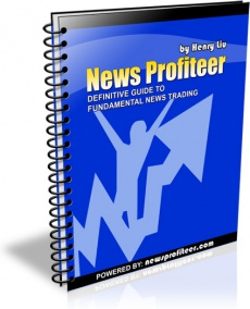 Ebook cover: News Profiteer Definitive Guide To Fundamental News Trading