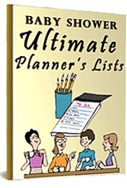 Ebook cover: Baby Shower Ultimate Planner's Lists