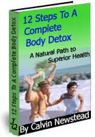 Ebook cover: 12 steps To A Complete Body Detox