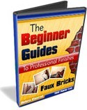 Ebook cover: The Beginners Guide to Professional Finishes : Faux Brick