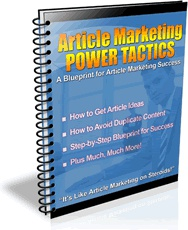 Ebook cover: Article Marketing